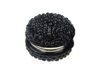 Black Embellished Magnetic Hijab Pin