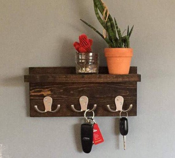Key holder key shelf coat rack robe hook wall decor wall like this item ppazfo