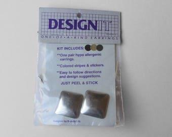 Vintage Silver Tone Earring Decorating Kit