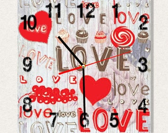 THE BEST Wall Clock Love, Best Gift for Home Decor