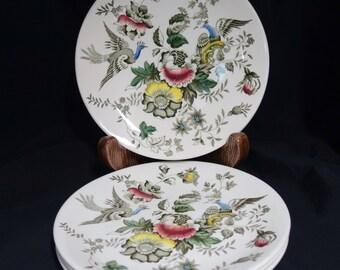 Antique Mid 19th Century Ridgway Atherstone Staffordshire England Black Transferware Plates, Staffordshire Plates, Made in England Plates
