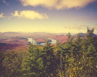 Landscape Photography - Mountain Photograph - New York - Adirondacks - Travel Photo - Rustic Decor - Autumn - Large Wall Art - Wilderness