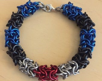 Roundmaille Leather Pride Bracelet