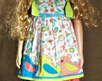 Girls bird dress