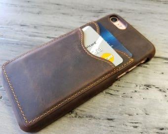 iPhone 6, 6 Plus, 7 , 7 Plus, 8, 8 Plus credit card case, Wallet Case,Leather Case, Phone Wallet - Personalized - Custom