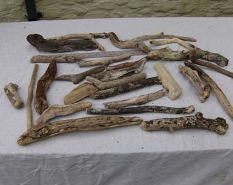 25 Driftwood Pieces, Natural, Craft, Decoration, Rustic, Wood