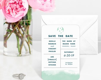 Chroma - Wedding Magnet - Save the Date + Envelopes
