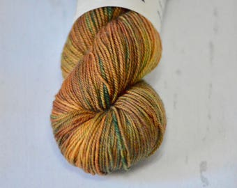 OOAK - Hand dyed yarn - Fingering weight - shawl - sweater - cowl