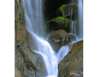 "Fine Art Color Nature Photography of Waterfall in Yosemite National Park - ""Bridalveil Falls 2"""