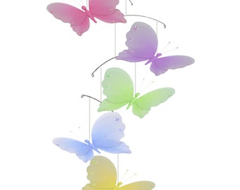 Butterfly Mobile Baby Mobile, Ceiling Mobile, Hanging Butterfly, Crib Mobile, Baby Room Decor, Girls Nursery Decor, Nursery Decoration Jewel