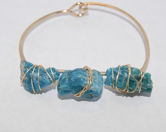 Apatite Gemstone bangle