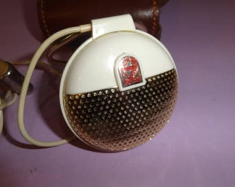 PHILIPS Microphone Made in Holland, Philips Microphone in Leather Case, Philips EL 3750/00 Microphone, VTG Philips Dynamic Desk Microphone