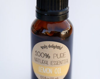 Lemon Essential Oil - 15ml bottle