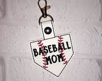 Baseball Mound Key Chain, Baseball keychain- Sports Tag - Mother's Day gift