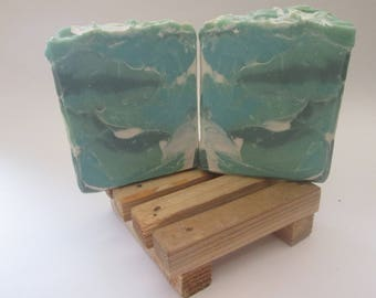 Eucalyptus, Spearmint, Essential Oil, Handmade, Bar Soap, Great Gifts, Handcrafted, Hand Cut, Artisan Soap, Luxury Soap, Cold Process Soap