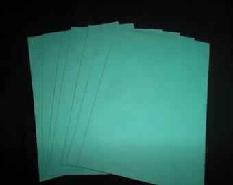 Vintage Teal Hallmark Envelopes, 3 X 6 inches