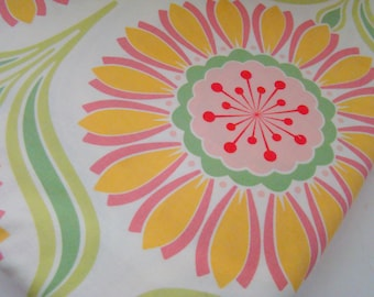Pop Garden Fabric by Heather Bailey, Pop Daisy Rose, Quilting Fabric, OOP HTF, Last Remnant Piece