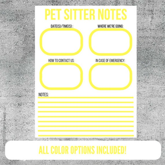 pet sitting instructions