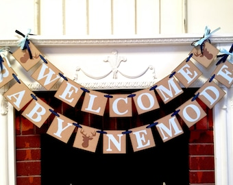 Woodland Deer Baby shower Decoration - Little Buck baby shower - Oh deer baby shower banner - Hunting Welcome baby Shower- your color choice