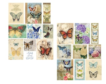 Butterfly Dreaming collage Set