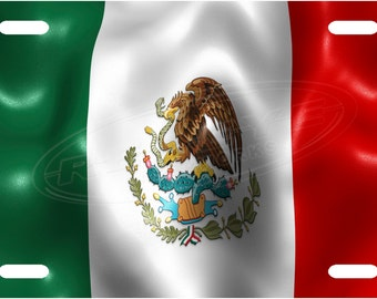 Mexico Flag License Plate Tag