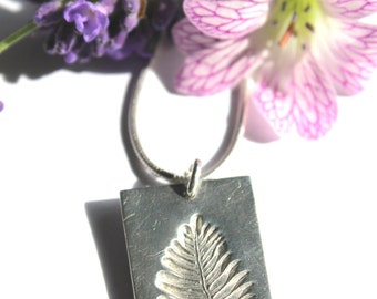 Silver fern necklace, fern leaf necklace, silver fern, fern print, silver leaf necklace, fern jewelry, fern jewellery