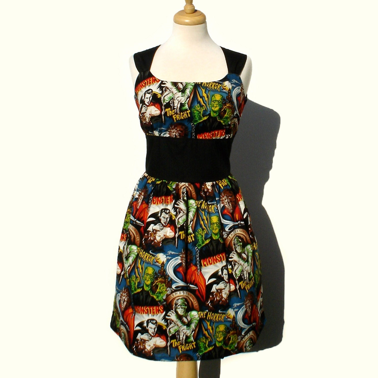 Rockabilly Pinup Dress Classic Pinup Dress / Monsters Vintage