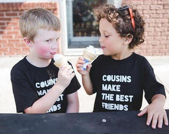 Cousins Make The Best Friends Shirt - Cousins Baby Bodysuit - Trendy Kid's Clothes - Cute Kids Tshirt - Hipster Kids Tees - Cousins Tshirts