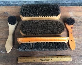 Lot of 5 Shoe Shine Brushes