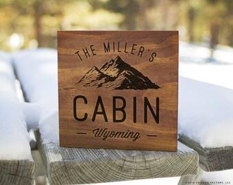 Custom Cabin Signs, Cabin Signs, Cabin Decor, Cabin Wall Decor, Lodge Sign, Lodge Decor, Rustic Signs, Rustic Wall Decor (GP1094)