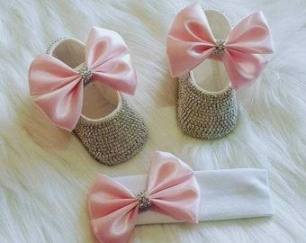 Ballet shoe rhinestone and headband