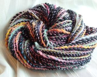 Silk Bower handspun yarn, 93 yards of bluefaced leister, sparkle and silk
