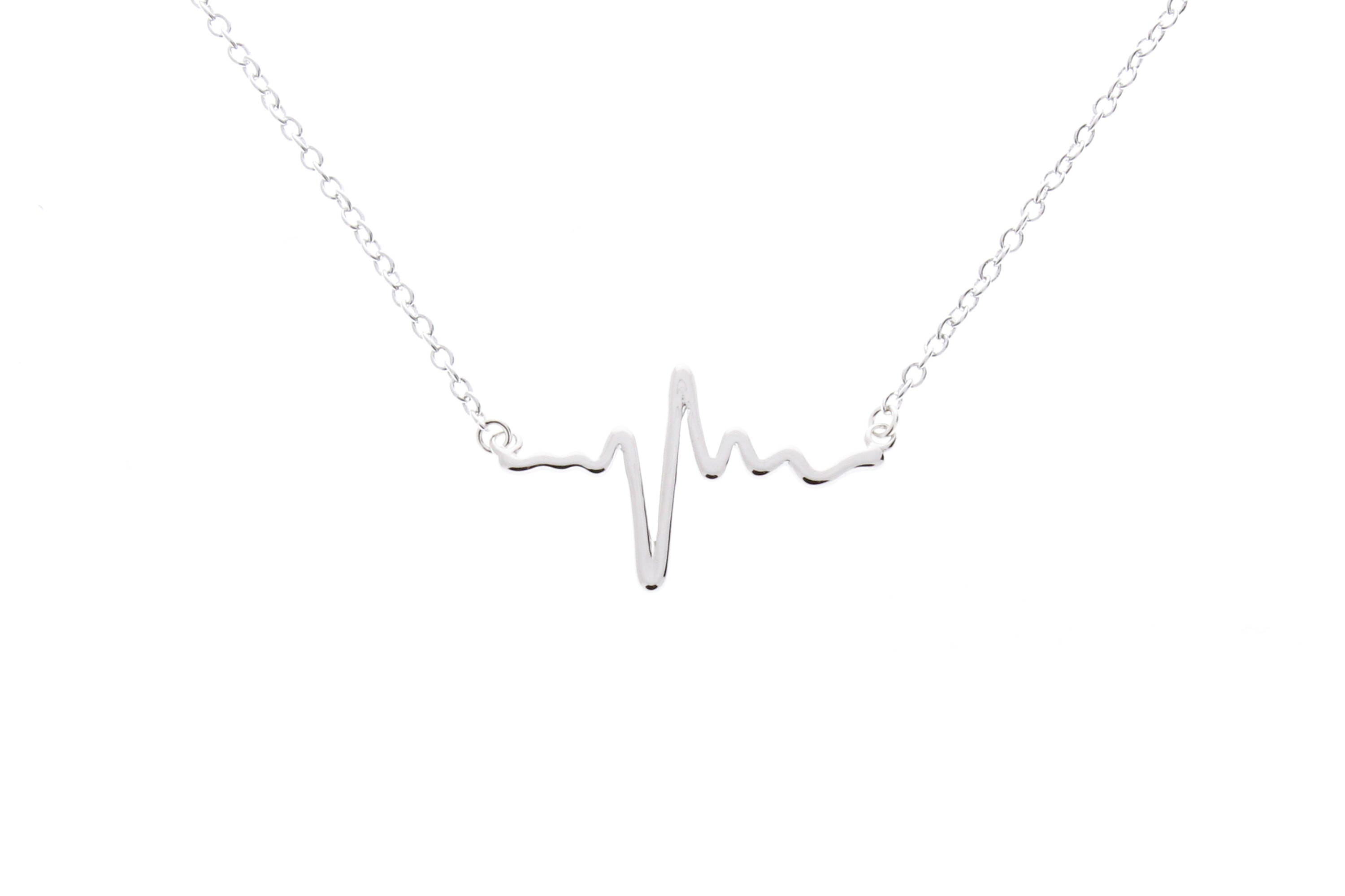 delicate everafterguide doctor pulse nurse gold chain gift heartbeat necklace ecg jewelry medical for com