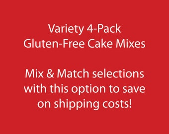 Variety 4-Pack: Gluten-free Cake Mixes