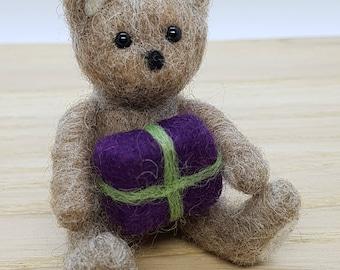 Needle Felt Teddy, Teddy Bear, Needle Felted Teddy Bear, Needle Felted Bear, Little Ted,