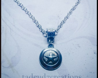 Captain America Inspired Shield Pendant