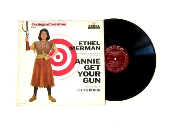 Annie Get Your Gun Ethel Merman Vinyl Record Album 12 Inch LP Vintage Music Decca Album 33 1/2 Long Play RPM
