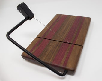 Cheese Slicer - Walnut with Purple Stripes