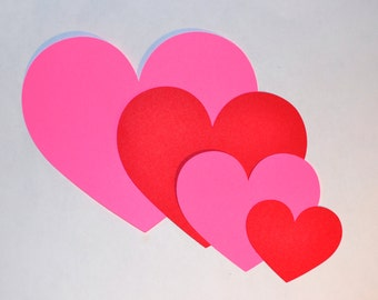 Heart Die Cuts - All Sizes And Colors - Red Heart Die Cuts - Pink Heart Die Cuts - Valentine's Day - Valentine Hearts - Paper Heart