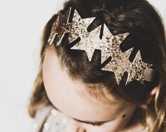 Children's gold star headband