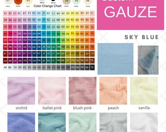 ADD ON - change GAUZE color on your blanket |  Custom gauze colors