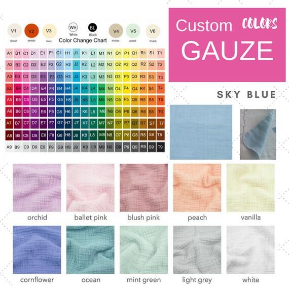 ADD ON - change GAUZE color on your blanket    Custom gauze colors