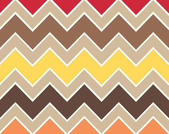 Shaded Chevron Medium in Fall : Riley Blake 1 Yard Cut