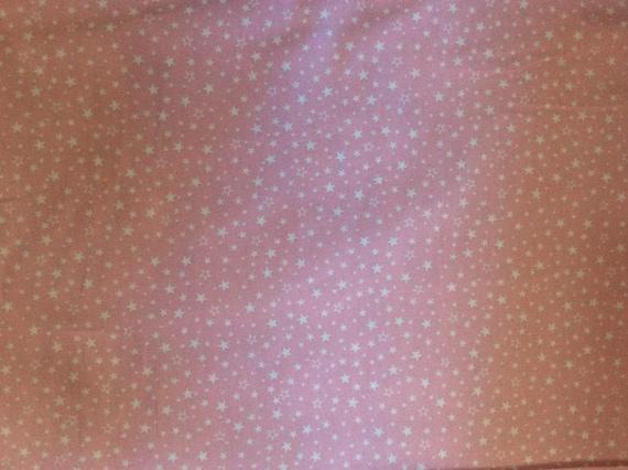 High quality cotton poplin, baby pink stars