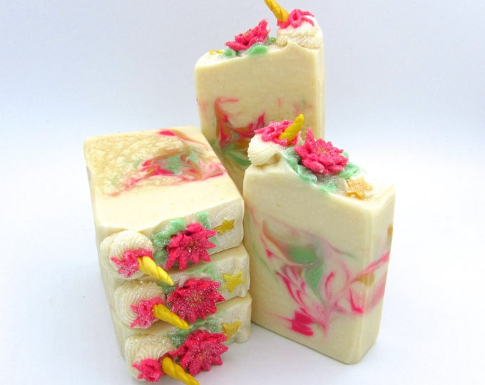 Featured listing image: The Christmas Unicorn artisan soap