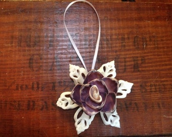 Purple Cut Shell Ornament
