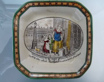 Vintage Adams 'Cries of London' Square Trinket or Pin Dish