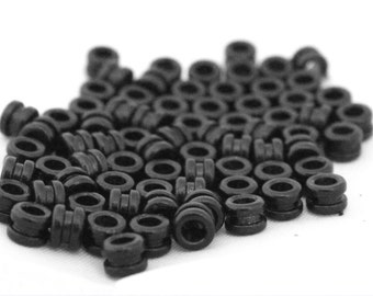 70 Genuine Black Guitar String Ball End Beads