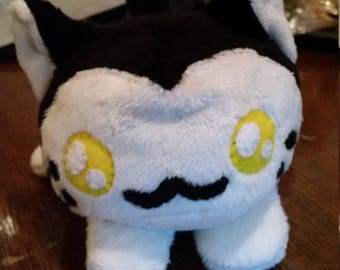 Black and White Kitten plush