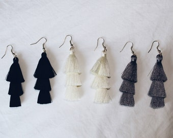 Tassel Earrings - Pick Your Color -
